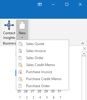 Suplemento exibido no cliente Outlook
