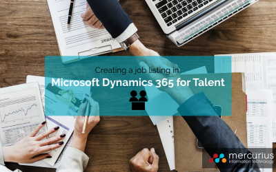 How to create a job listing in Microsoft Dynamics 365 for Talent
