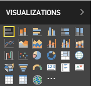 Visualisations tab in PowerBI