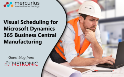 Visual Scheduling for Dynamics 365 Business Central Manufacturing