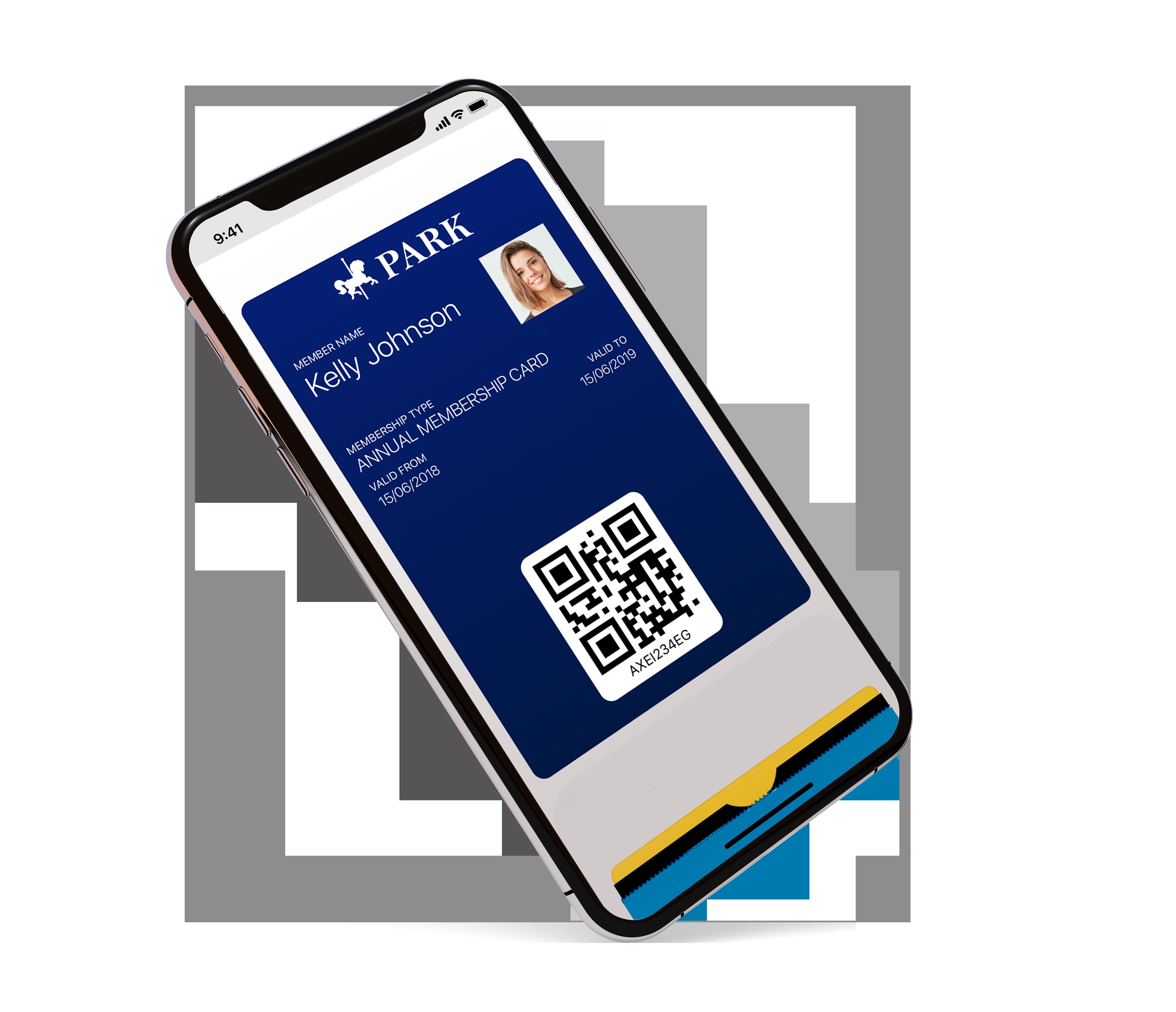 Membership card displayed in digital mobile wallet